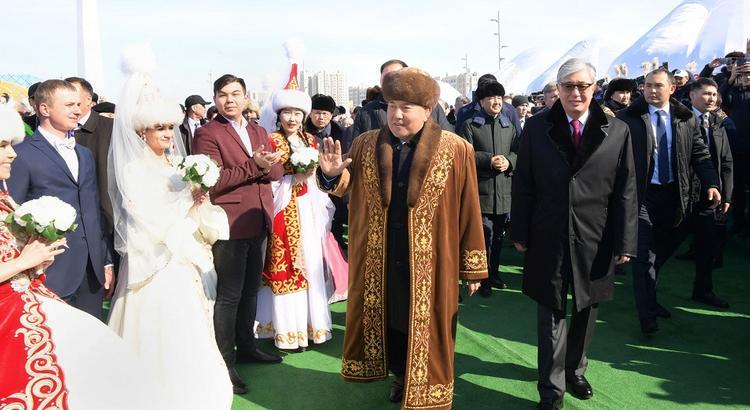 ҚР тұңғыш Президенті мен Мемлекет басшысы Наурыз мейрамына арналған шараға қатысты