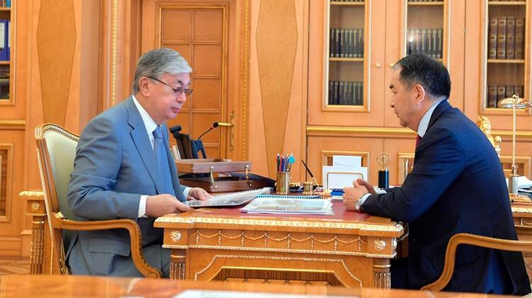 Мемлекет басшысы Алматы қаласының әкімін қабылдады