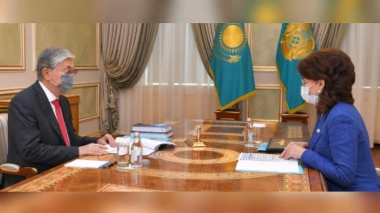 Президент Ақпарат және қоғамдық даму министрі Аида Балаеваны қабылдады