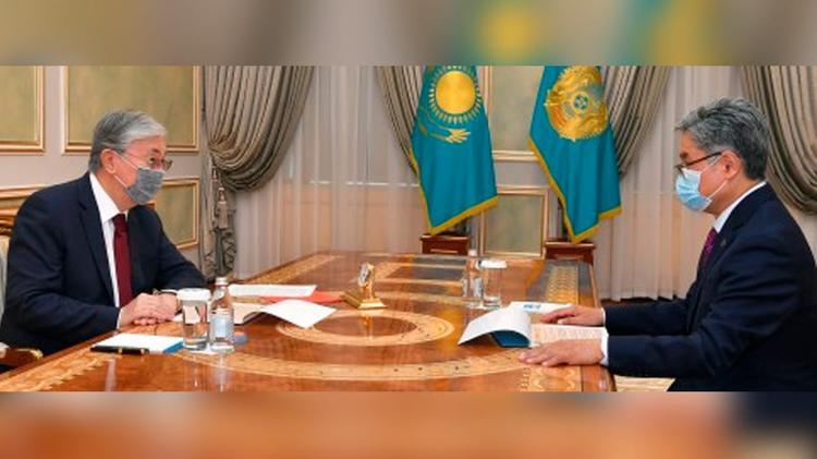 Президент «География және су қауіпсіздігі институты» АҚ басқарма төрағасын қабылдады