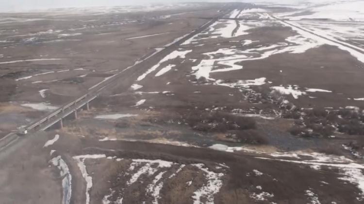 Угроза паводков сохраняется в трёх районах Акмолинской области