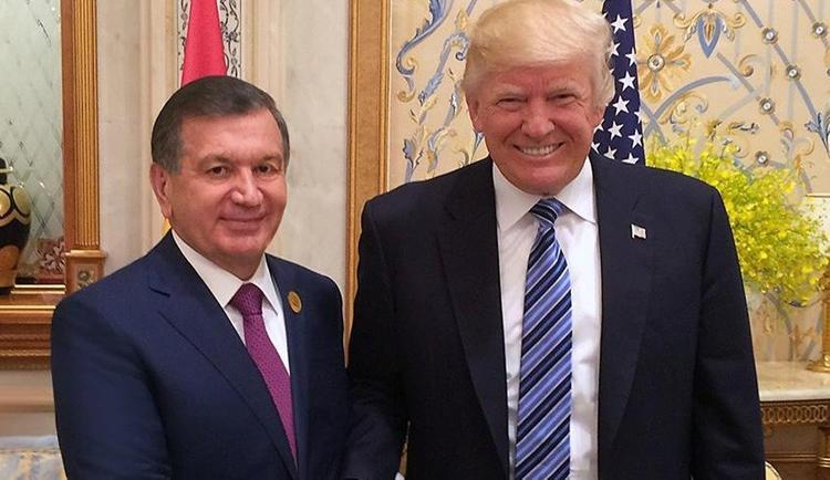 Шавкат Мирзиеев Ақ үйде Трамппен кездесті